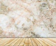 抽象大理石墙壁和木头平板仿造了(自然样式)纹理背景 免版税库存图片
