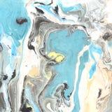 抽象大理石纹理 流动的墨水的纸和混合 库存照片