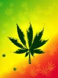 抽象大麻背景传染媒介例证 免版税库存图片