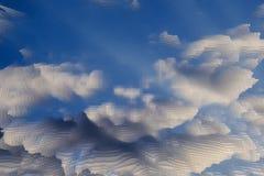 抽象天空背景挤压立方体,纹理挤压了 库存例证