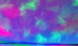 抽象天空 库存例证