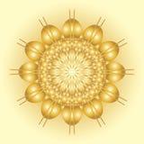 抽象太阳标志 库存照片