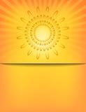 抽象太阳镶有钻石的旭日形首饰的样式模板 免版税库存图片