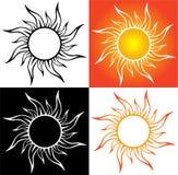 抽象太阳,纹身花刺 免版税库存照片