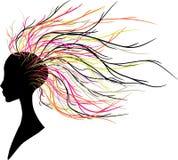 抽象头发 免版税库存图片