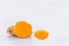 抽象姜,姜黄根软性被弄脏的和软的焦点, 库存照片