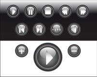抽象媒体按钮 库存图片