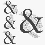 抽象字体和叶子概念 向量例证