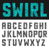 抽象字母表漩涡 库存图片