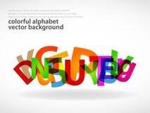 抽象字母表背景 向量例证