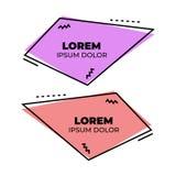抽象孟菲斯样式现代横幅 库存例证
