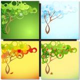 抽象季节树 免版税库存图片