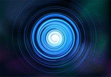 抽象对称分数维龙卷风旋涡星云蓝色 皇族释放例证