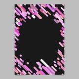 抽象对角条纹样式小册子模板-从条纹的空白的传染媒介飞行物背景设计在桃红色口气 免版税库存照片