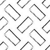 抽象对角黑白无缝的啪答声 免版税库存图片