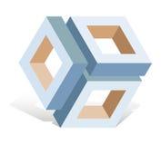 抽象对象cubeframe 免版税库存照片