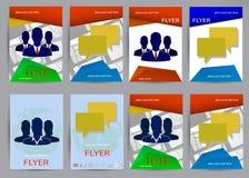 抽象小册子飞行物设计传染媒介模板 免版税库存照片