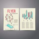 抽象小册子飞行物设计传染媒介模板 免版税库存图片