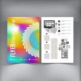 抽象小册子飞行物设计传染媒介模板 库存照片