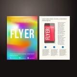 抽象小册子飞行物设计传染媒介模板 库存图片