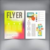 抽象小册子飞行物设计传染媒介模板 图库摄影