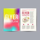 抽象小册子飞行物设计传染媒介模板 免版税图库摄影