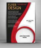 抽象小册子飞行物设计模板 库存图片