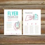 抽象小册子飞行物设计,清单 免版税库存图片