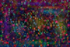 抽象小故障背景 方形的五颜六色的噪声纹理 免版税库存图片