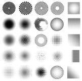 抽象小点集合传染媒介 库存图片