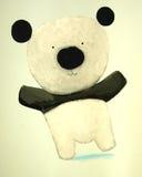 抽象小熊猫 免版税图库摄影