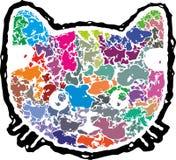 抽象小猫面孔 库存图片