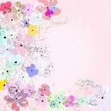 抽象小的花, 皇族释放例证