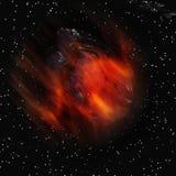 抽象小行星 免版税图库摄影