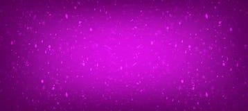 抽象层状桃红色和紫色三角样式与明亮的中心,乐趣当代艺术背景设计 向量例证