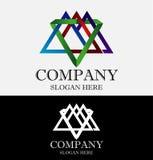 抽象山三角商标 免版税库存照片