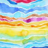 绘抽象山样式例证设计的水彩 库存图片