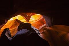 抽象峡谷砂岩颜色和纹理 免版税库存图片