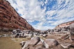 抽象峡谷视图 库存照片