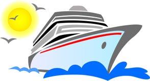 抽象巡航eps船 免版税库存照片