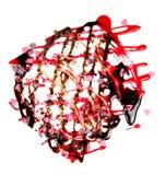 抽象巧克力做溶解的形状strawb 免版税图库摄影