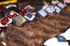 抽象巧克力重点想法 免版税库存照片