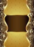 抽象布朗和金花卉背景 图库摄影