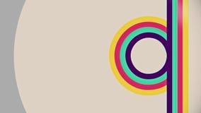 抽象平的五颜六色的垂直线流动动画 向量例证