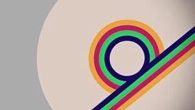 抽象平的五颜六色的对角线流动动画 库存例证