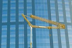 抽象庄稼现代办公室摩天大楼 免版税库存图片