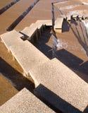 抽象庭院跨步水 免版税库存图片