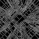 抽象建筑结构向量 免版税库存图片