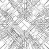 抽象建筑结构向量 免版税库存照片