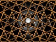 抽象形成的网格星形 免版税图库摄影